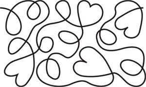 Hearts and Loops - large simple