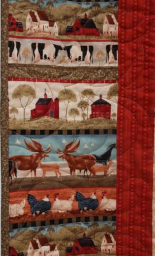 """This is a detail of the border fabric in """"Americana"""""""